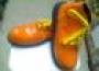 Zapatos Para Payaso Charol Naranja