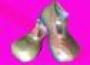 Zapatos Para Payasita Con Brillos (Dorado)
