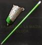 Bastón de Aparición Metálico-Verde Turquesa