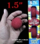 Bolas De Esponja Super suave Rojo 1.5
