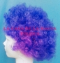 Peluca China Mediana Afro-Morado