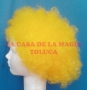 Peluca China Mediana Afro-Amarillo