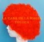 Peluca China Mediana Afro-Rojo