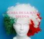 Peluca China Mega Afro Tricolor