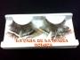 Pestañas De Pluma-Café Con Blanco