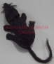 Ratón Chico De Hule-Negro