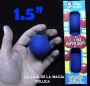 "Bolas De Esponja Super Suave Azul 1.5"" Paquete Con 4"