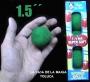 """Bolas De Esponja Super Suave Verde 1.5"""" -Paquete Con 4"""