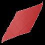 """Seda Corte Diamante 12""""-Rojo"""