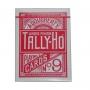 Tally Ho Fan Back Tamaño Poker (Rojo)