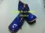 Zapatos Para Payaso Charol-Azul Rey