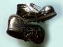 Zapatos Para Payaso En Charol-Negro